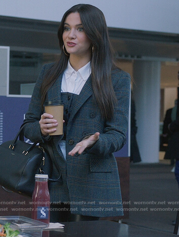 Jane's gray plaid blazer on The Bold Type