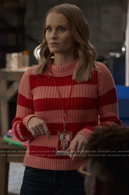 Ashlyn's Rolling Stones tee and sloth socks on High School Musical The Musical The Series