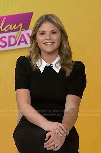 Jenna's black puff sleeve sweater on Today