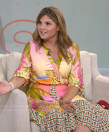 Jenna's tropical print wrap dress on Today
