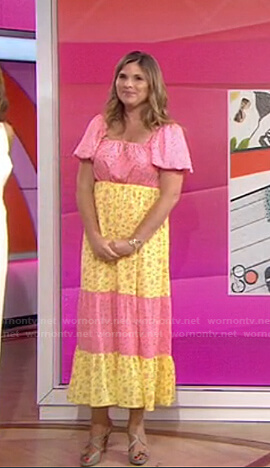 Jenna's pink and yellow floral maxi dress on Today