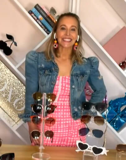 Jenn Falik's pink gingham dress and puff sleeve denim jacket on Today