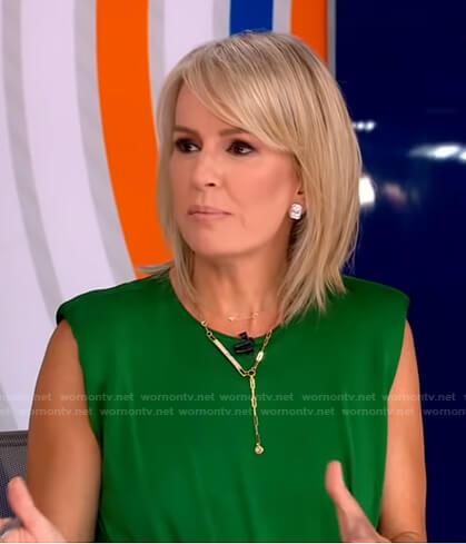 Jennifer's green asymmetric dress on Good Morning America