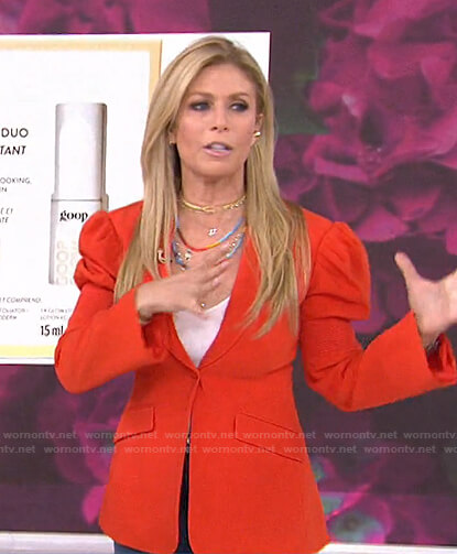 Jill's red puff sleeve blazer on Today