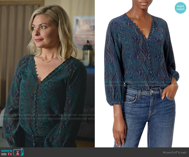 Shariana Top by Joie worn by Stephanie Borden (Kylee Evans) on Good Witch