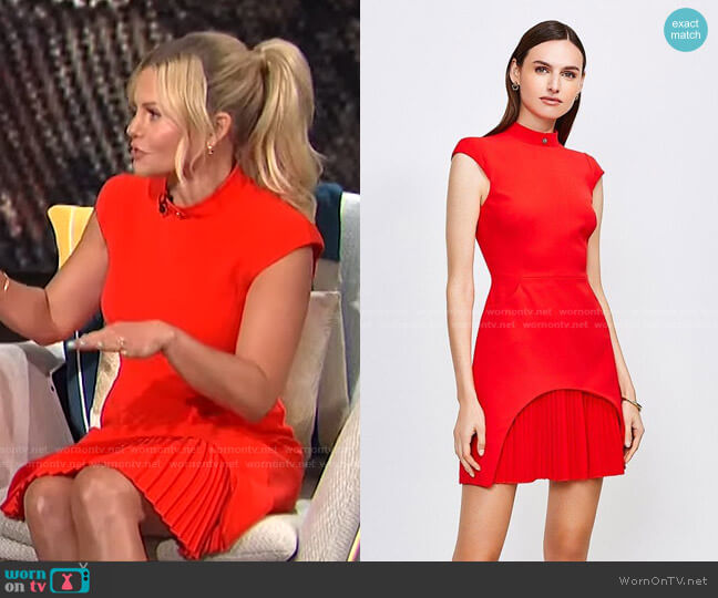 Military Tailored Dress by Karen Millen worn by Candace Cameron Bure on E! News Daily Pop