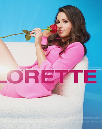 Katie's pink blazer and shorts on The Bachelorette