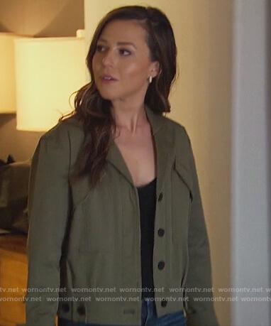 Katie's green jacket on The Bachelorette