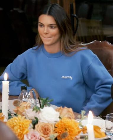 Kourtney's stripe robe on Keeping Up with the Kardashians