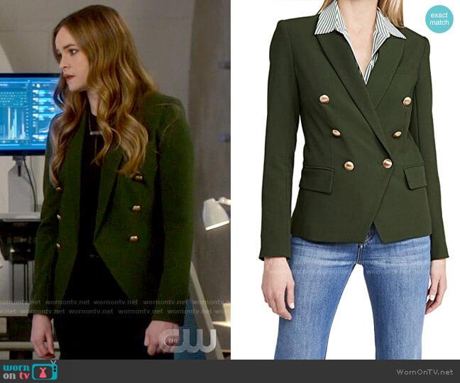 L'Agence Dark Moss Kenzie Blazer worn by Caitlin Snow (Danielle Panabaker) on The Flash