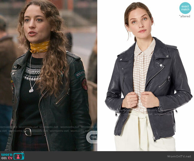 LaMarque Kiyoshi Leather Jacket worn by Sarah Cooper (Stella Baker) on The Republic of Sarah