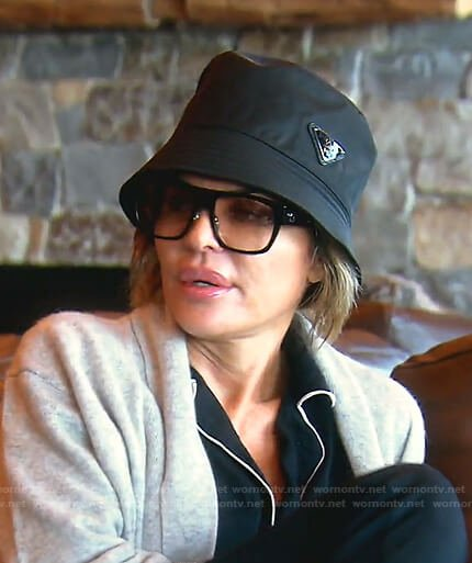 Lisa's black bucket hat on The Real Housewives of Beverly Hills