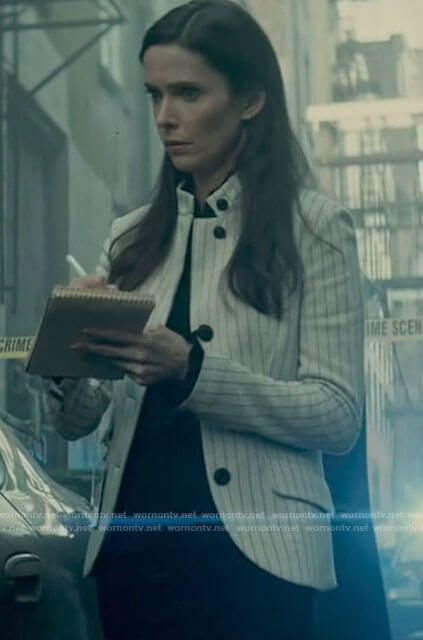 Lois's white striped jacket on Superman and Lois