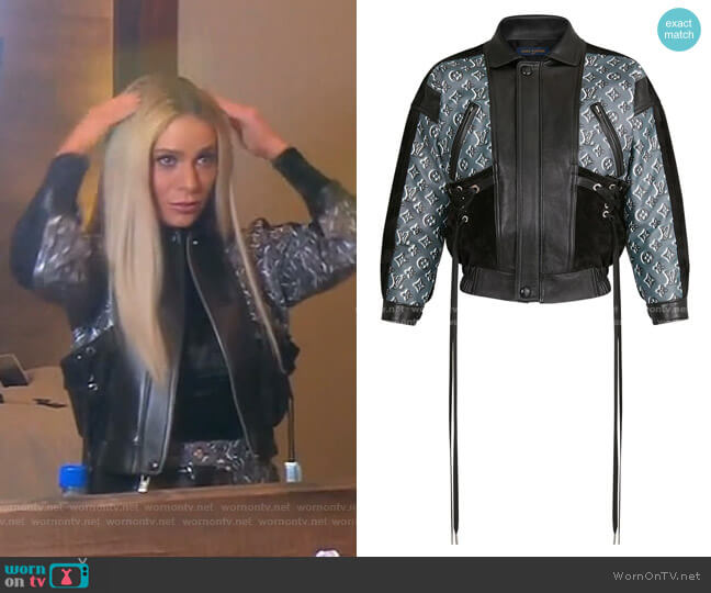 Monogram Shadow Leather Jacket by Louis Vuitton worn by Dorit Kemsley  on The Real Housewives of Beverly Hills
