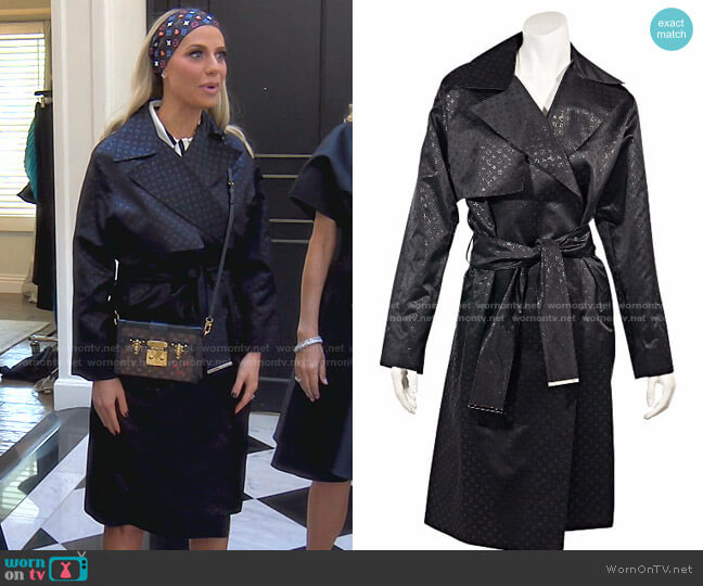 Monogram Trench Coat by Louis Vuitton worn by Dorit Kemsley  on The Real Housewives of Beverly Hills