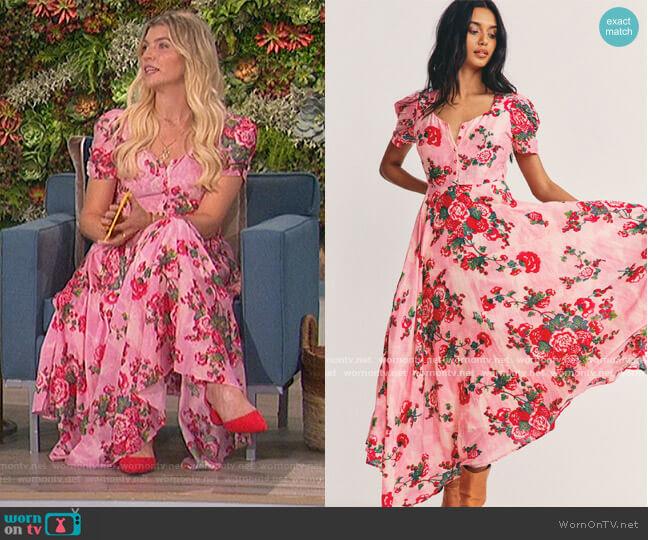 Coralie Maxi Dress by Love Shack Fancy worn by Amanda Kloots  on The Talk
