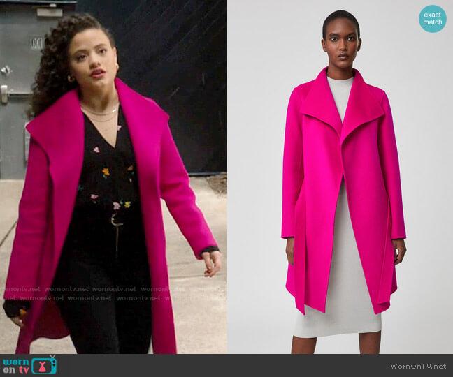Mackage Laila Coat worn by Maggie Vera (Sarah Jeffery) on Charmed