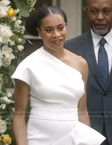 Maggie's wedding dress on Greys Anatomy