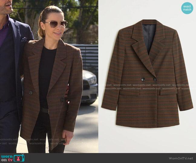 Check Suit Blazer by Mango worn by Chloe Decker (Lauren German) on Lucifer