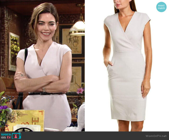 Max Mara Bill Dress worn by Victoria Newman (Amelia Heinle) on The Young & the Restless