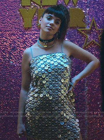 Mencia's sequin mini dress on Elite