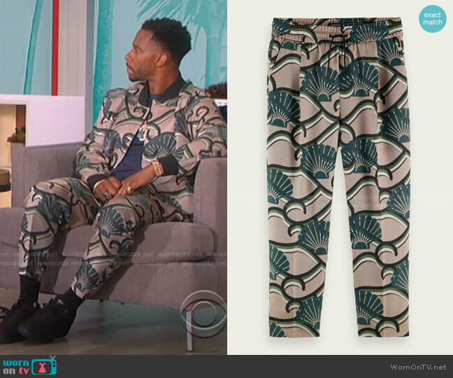 Printed Jacquard Sweatpants by Scotch & Soda worn by Victor Cruz on The Talk