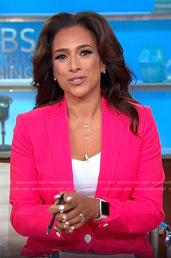 Michelle Miller's pink suit on CBS This Morning