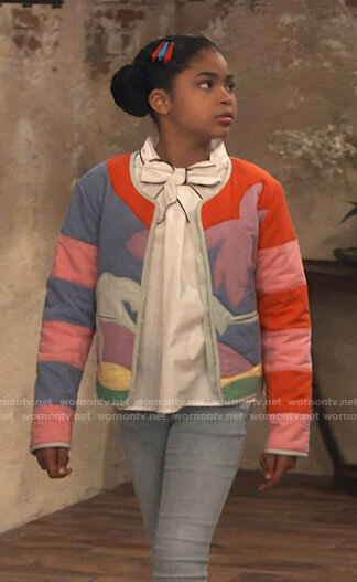 Millicent's palm tree jacket on iCarly