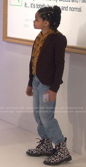 Millicent's star print denim jacket on iCarly