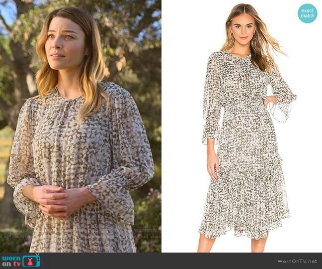 Laia Dress by Misa Los Angeles worn by Chloe Decker (Lauren German) on Lucifer