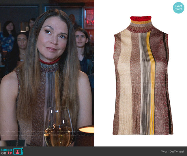 Striped Print Knit Top by Missoni worn by Liza Miller (Sutton Foster) on Younger