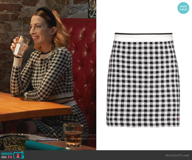 Checked Mini Skirt by Miu Miu worn by Lauren (Molly Bernard) on Younger