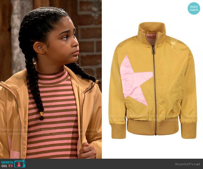 Molo Star Jacket in Honey Yellow worn by Millicent (Jaidyn Triplett) on iCarly