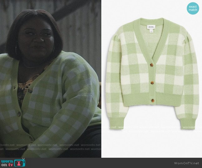 Cropped Knit Cardigan by Monki worn by Genesis Denise Hale on The Chi