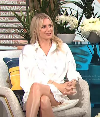 Morgan's white shirtdress on E! News Daily Pop