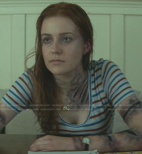 Nancy's striped scoop neck tee on Nancy Drew
