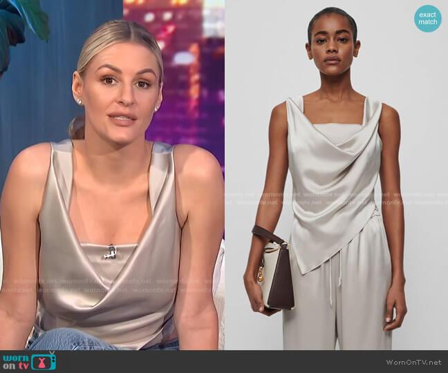 Petra Top by Nanushka worn by Morgan Stewart  on E! News