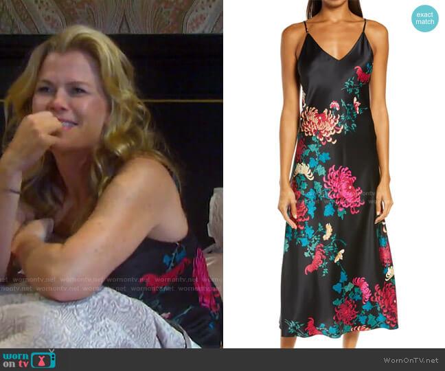 Chrysanthemum Satin Nightgown by Natori worn by Sami Brady (Alison Sweeney) on Days of our Lives