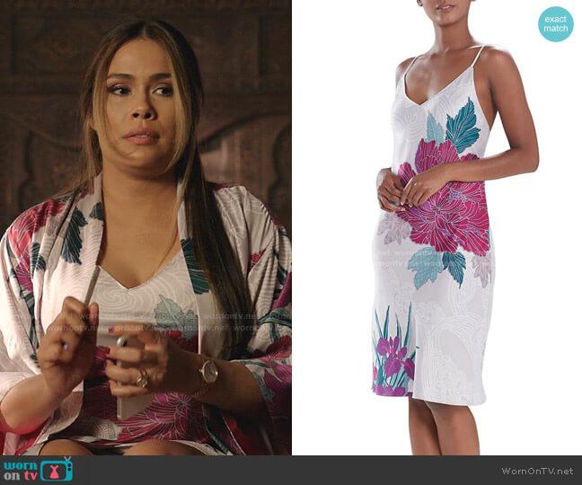 Jubako Floral Slip Dress by Natori worn by Cristal Jennings (Daniella Alonso) on Dynasty