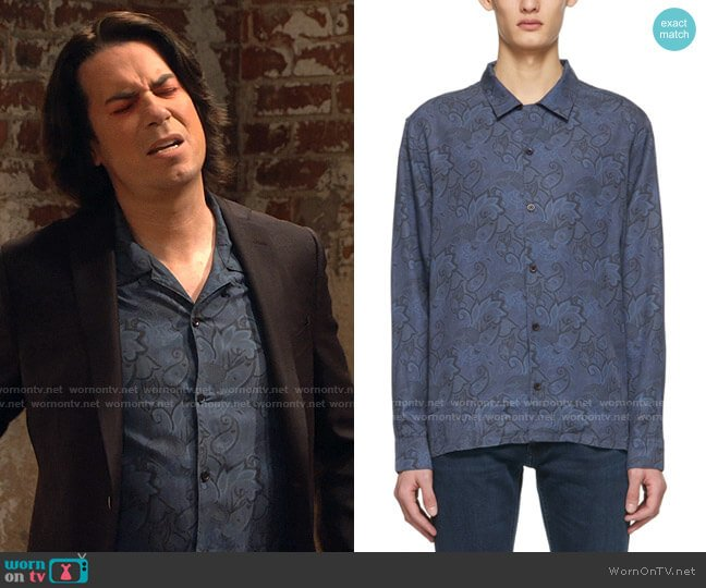 Nudie Jeans Paisley Vidar Shirt worn by Spencer Shay (Jerry Trainor) on iCarly