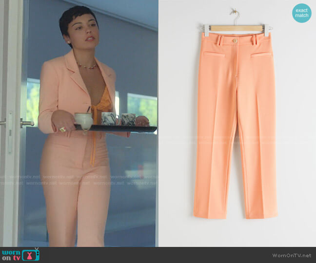 Cropped Tailored Trousers by & Other Stories worn by Ari Blanco (Carla Diaz) on Elite