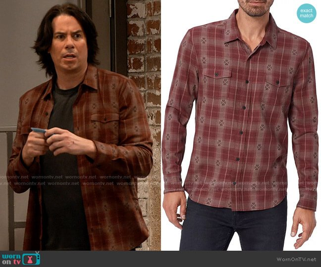 Paige Embellished Plaid Shirt worn by Spencer Shay (Jerry Trainor) on iCarly