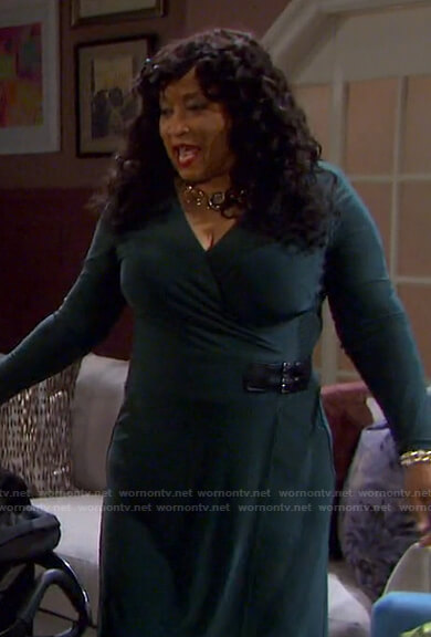 Paulina's green wrap dress on Days of our Lives