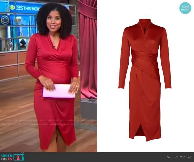 RACHEL Rachel Roy Bret Dress worn by Adriana Diaz  on CBS Mornings