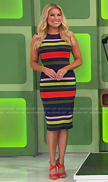 Rachel's striped dress on The Price is Right