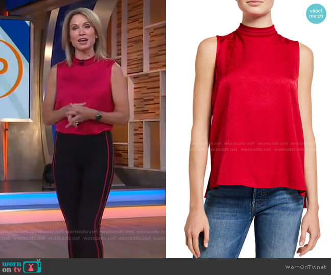 Letti Sleeveless Blouse by Rag & Bone worn by Amy Robach  on Good Morning America