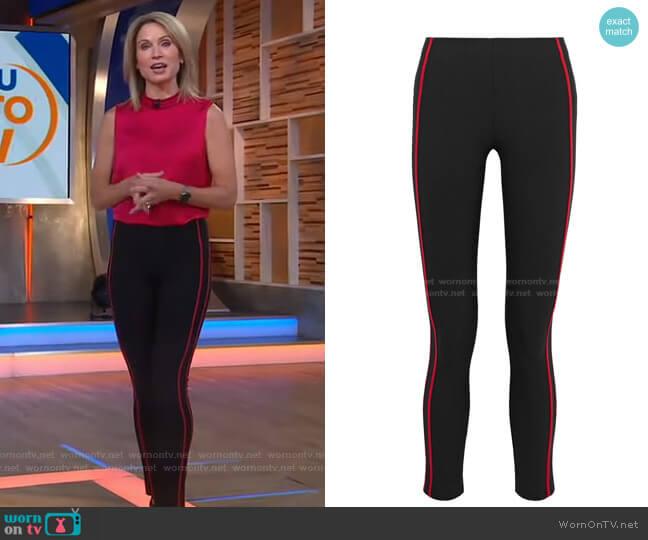 Simone striped cotton-blend skinny pants by Rag & Bone worn by Amy Robach  on Good Morning America