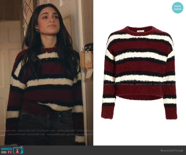Robyn Stripe Sweater by Rag & Bone worn by Olive Stone (Luna Blaise) on Manifest