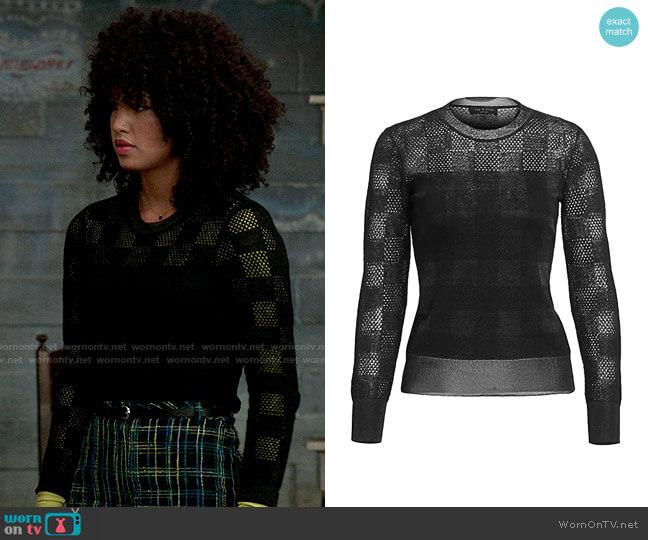 Rag & Bone Charlotte Sweater worn by Gina (Sofia Wylie) on High School Musical The Musical The Series