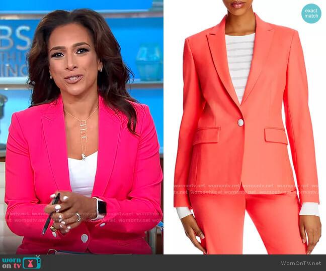 Rag & Bone Lexington Blazer in Bright Pink worn by Michelle Miller  on CBS Mornings